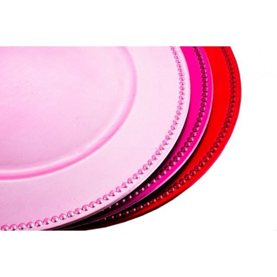 Light Pink Charger Plates BULK (24 Plates) [402074] : Wholesale ...