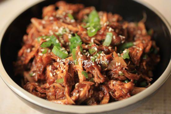 Resep Ayam Suwir Saus Teriyaki Resep Ayam Resep Makanan Resep