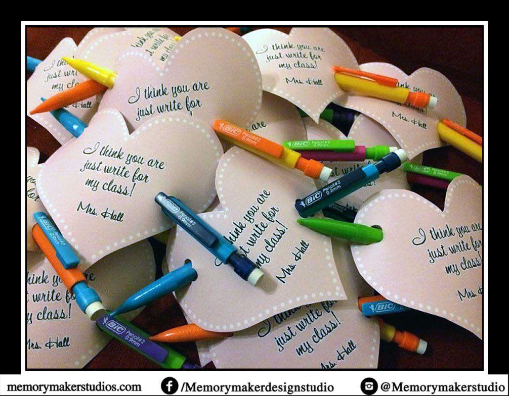 759046e37e5e9 Just Write Valentine Card Printable, Teacher printable, Teacher ...