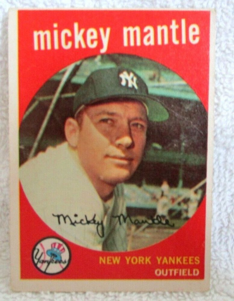 Mickey Mantle 1959 Topps Sitting Pose Card 10 Vg Condition Yankees Of Hof Goat Ebay In 2021 Baseball Card Values Baseball Cards Baseball Trading Cards