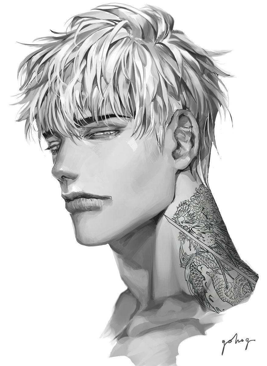 Pin On Anime Art Guy Sketch