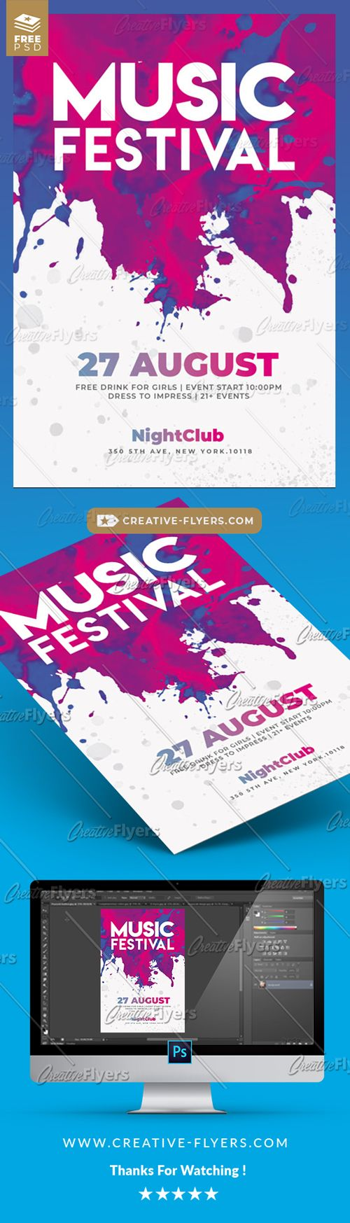 Music Festival Free Flyers Creativeflyers Flyer Templates