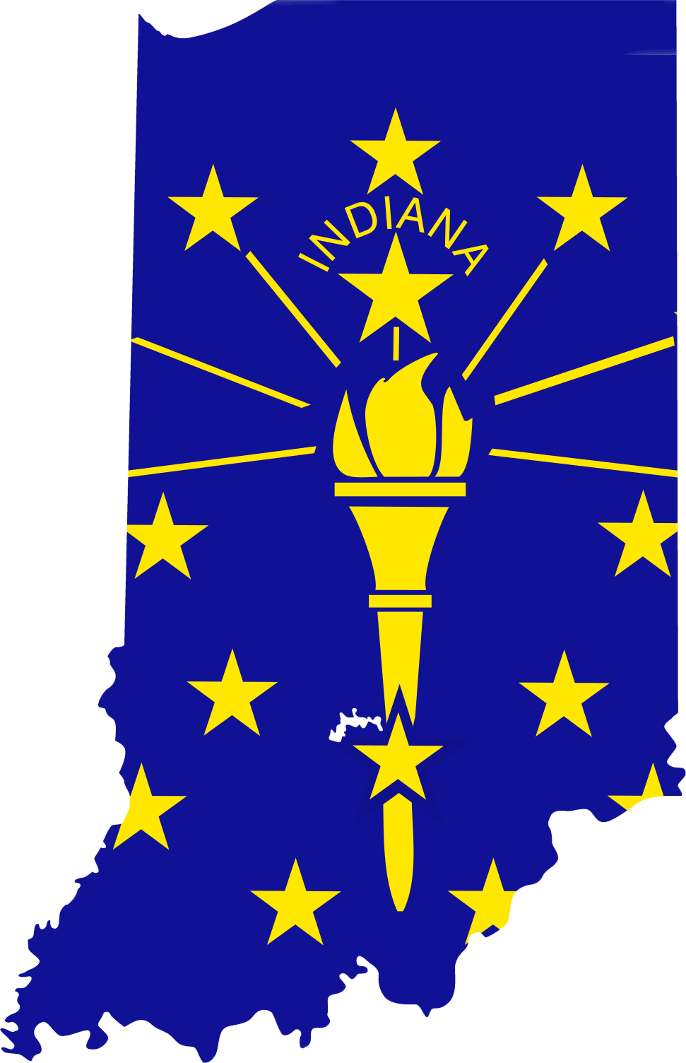 Indiana Is A Beautiful State Known For Their Quality Of People They Have A Devotion To Their Sports Teams And Their Co Indiana Flag Indiana State Flag Indiana