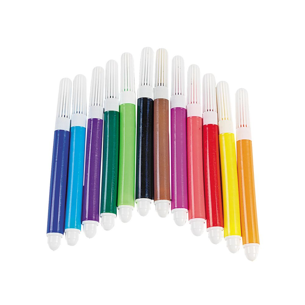 12 Color Mini Markers 12 Bags Oriental Trading In 2021 Mini Marker Markers Set Crayola Markers