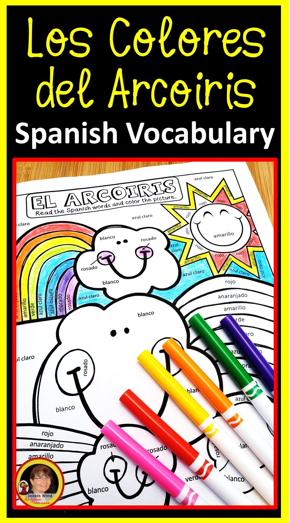 Spanish Colors Spanish Worksheets Spanish Colors Spanish Kids Teaching Colors [ 1728 x 960 Pixel ]