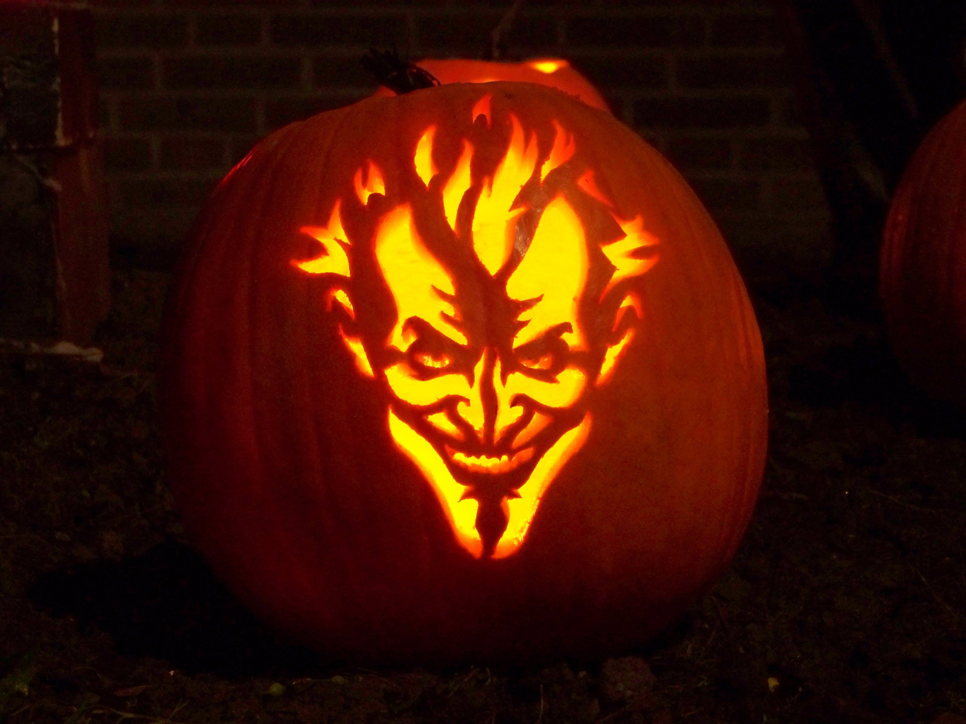 Joker pumpkin carving stencil pixshark images