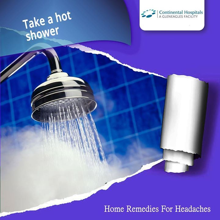 Stand in the shower and let the hot water hit your head and run down your neck and back. Doing so will loosen the muscles in your head and neck, allowing better blood flow. #Healthtips