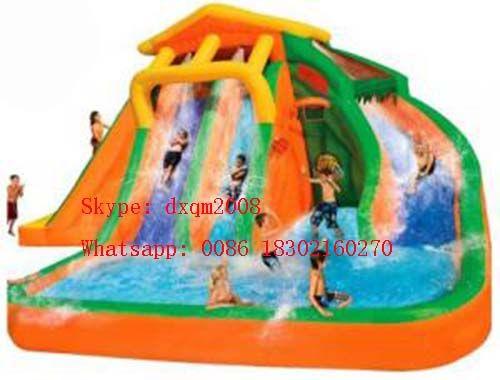 pas cher commerciale pvc gonflable toboggan de la piscine d'eau