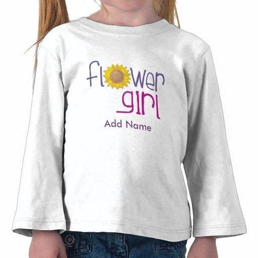 Personalized Sun Flowergirl T-shirts #flowergirl #weddings #gifts #tees