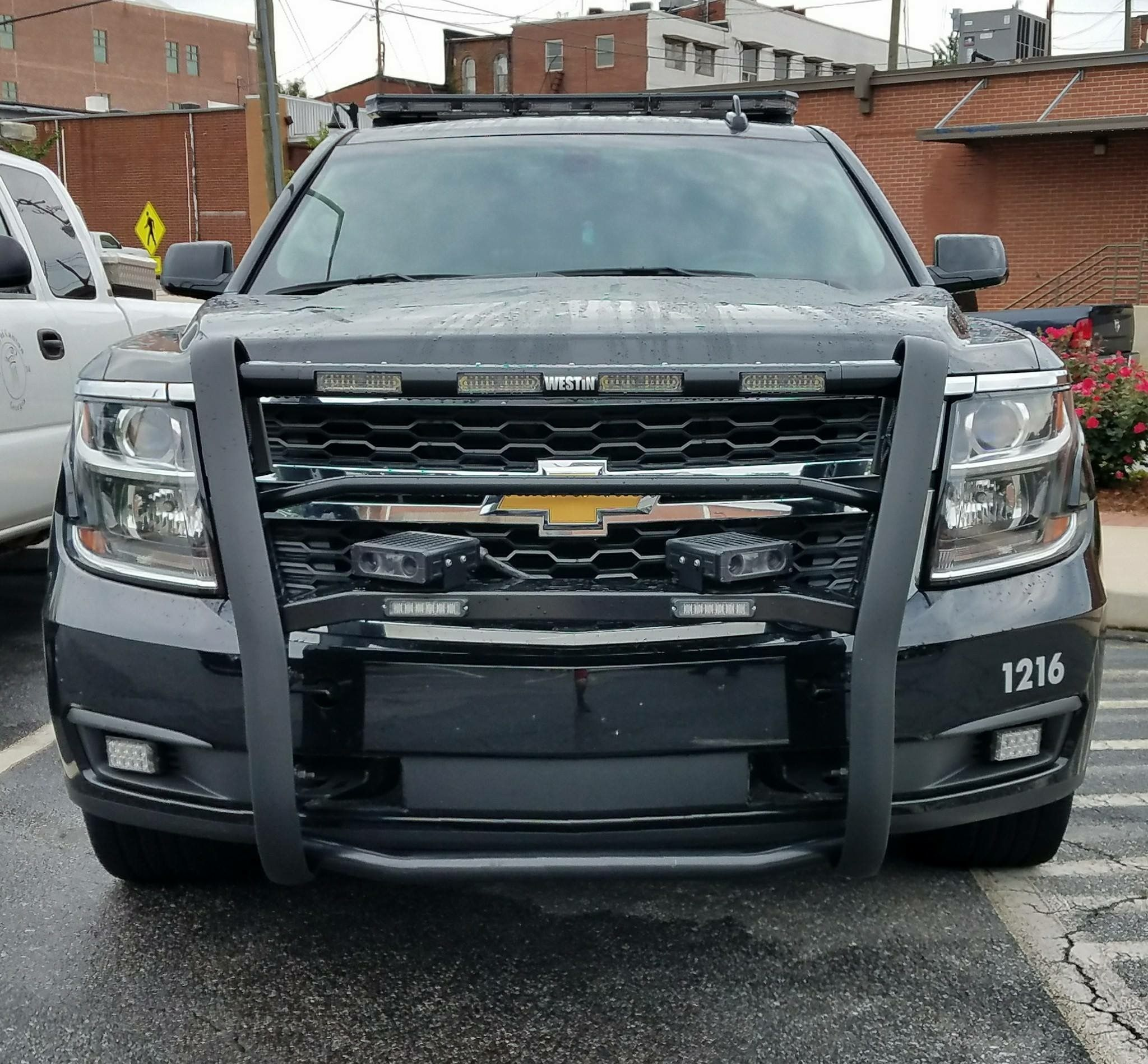 Front mounted dual tag readers  2016 Chevrolet Tahoe PPV