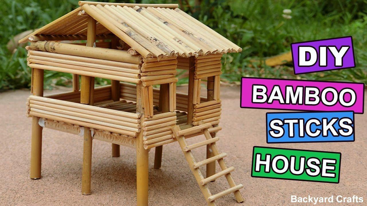 DIY Bamboo Sticks House : Easy Step by Step | Backyard