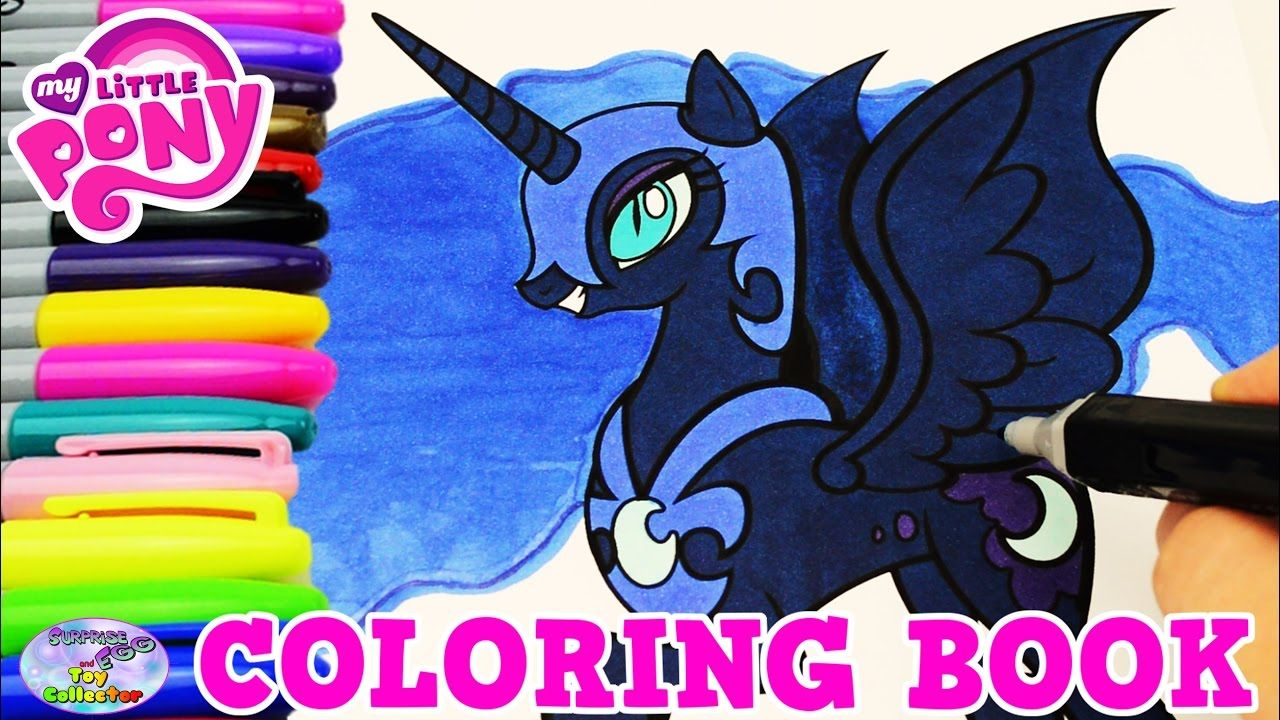 my little pony coloring book nightmare moon episode colors surprise egg