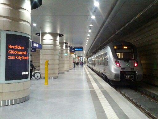 Leipzig Hbf Tief Eisenbahn, Bahnhof, Leipzig