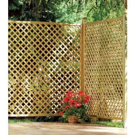 021500 Treillis Premium Jardin Deco Jardins En Bois Cloture Jardin Treillis Bois