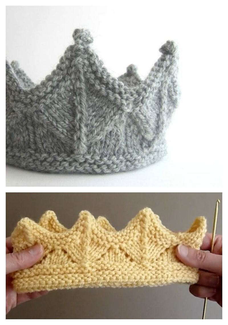 Knitted Crown Free Knitting Pattern and Video Tutorial | knitting ...