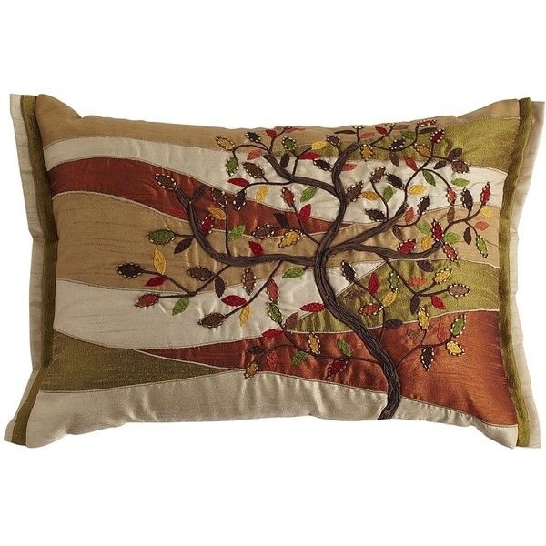 Pier One Decorative Pillows Pier One Tree Of Life Pillow $35 ❤ Liked On Polyvore  Fall Fun