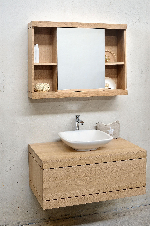 Cadence Mirror Cabinet Von Ethnicraft Badezimmerschrank Holz Spiegelschrank Bad Badezimmer Spiegelschrank