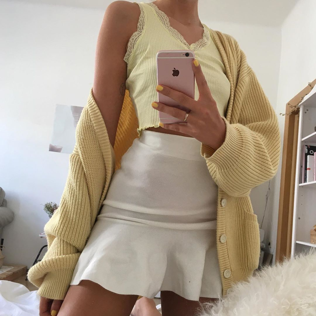 """💖🤠aurica{hallo hallo}🤠💖 on Instagram: """"nothing but 💛 4 this cardigan"""""""