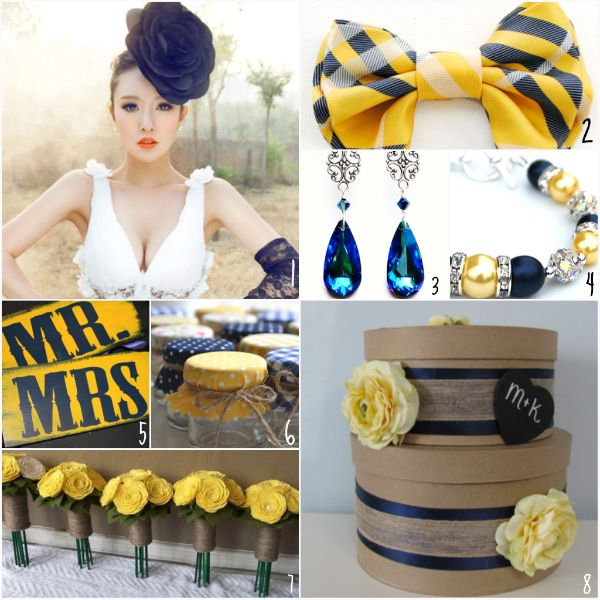 ETSY ADDICTION - Preppy Chic (Yellow and Navy) - Munaluchi Bridal Magazine