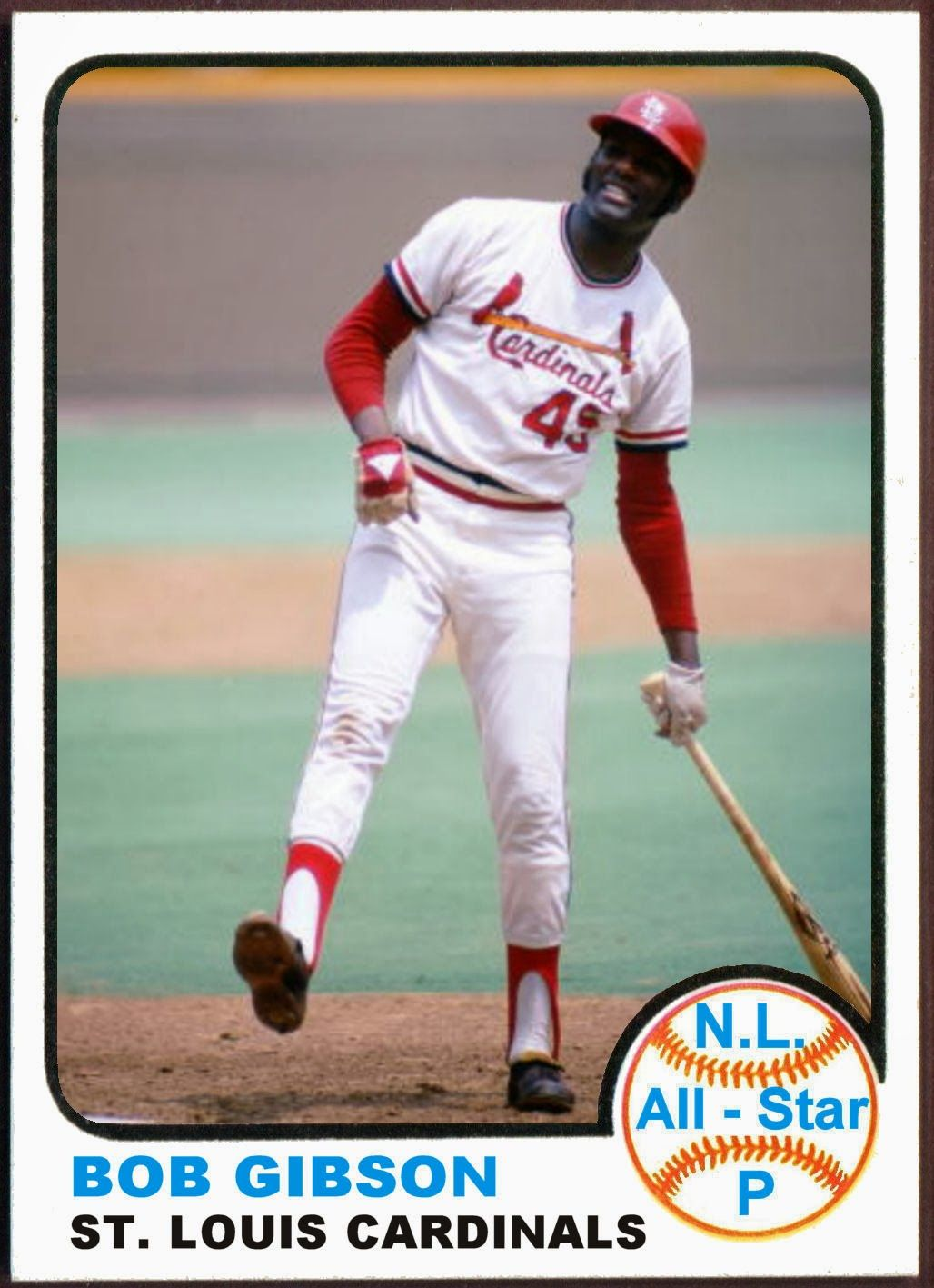 1973 Topps Bob Gibson AllStar. Baseball Cards That Never