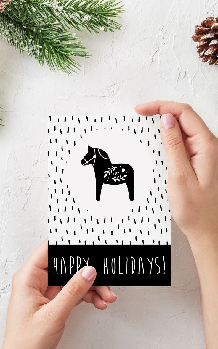 Scandinavian Christmas Card is a last-minute minimalist touch to ...