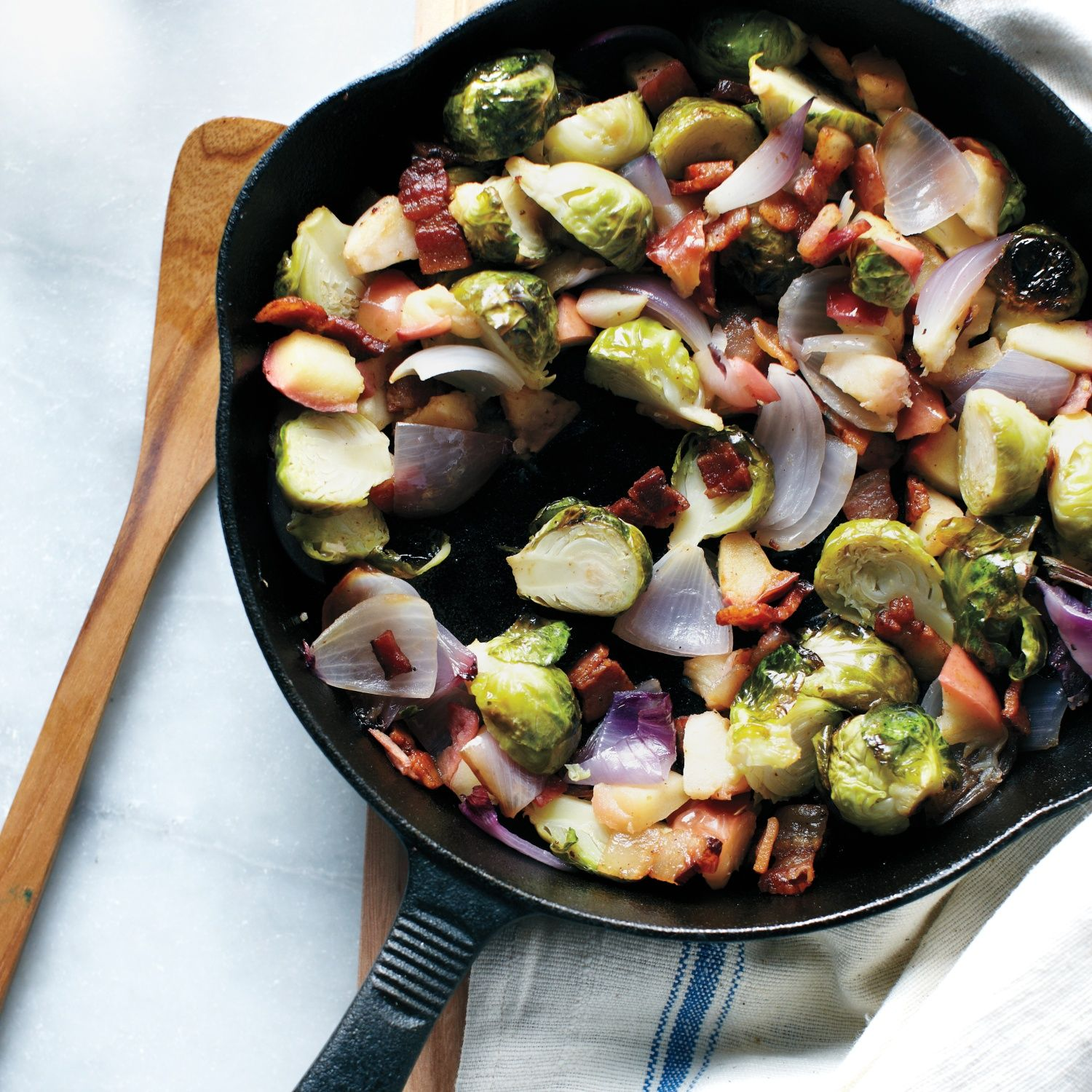 Brussels Sprout, Apple, and Bacon Hash Recipe Sprout