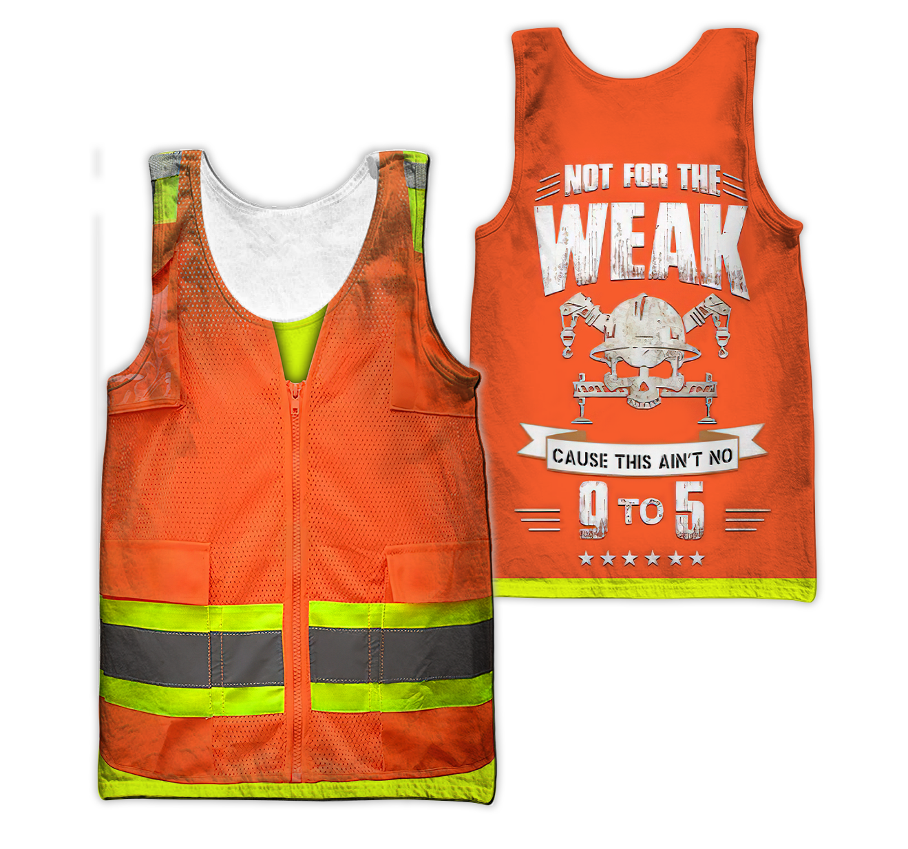 Customize Name Heavy Equipment Operator 3D All Over Printed Unisex Shirts - Tanktop / L