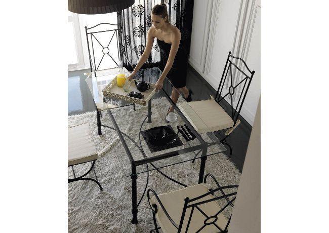 Mesa de comedor. Modelo Niza. Estructura de forja y tapa de ...