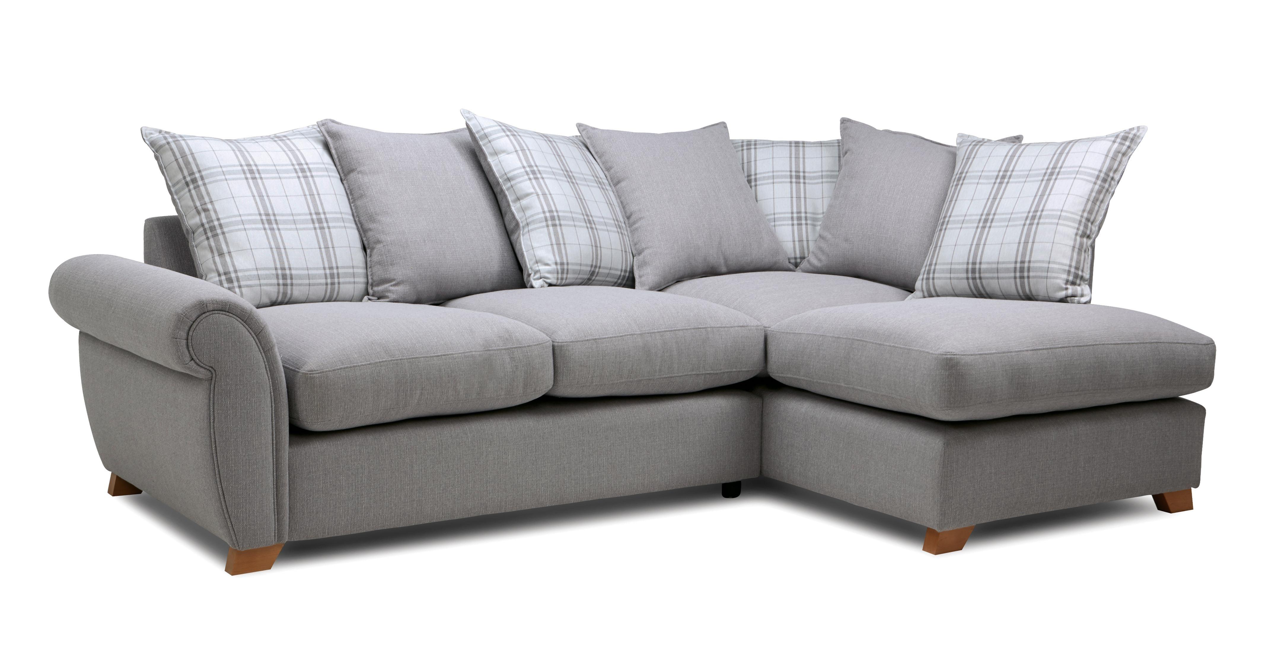 Weston Plain Left Arm Facing Pillow Back Corner Sofa Arran