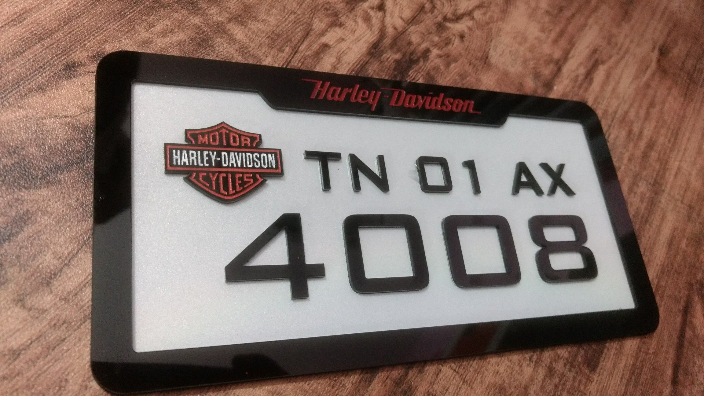 Harley davidson number plate Projects to try Pinterest