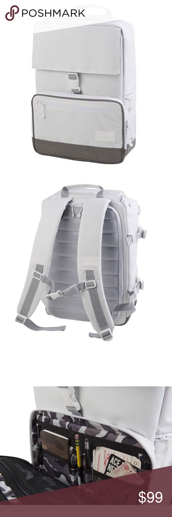9d75bbe8a428 HEX RAVEN MEDIUM DSLR BACKPACK white NWT