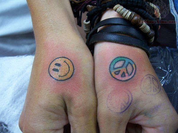 Back Of Hand Tattoo Of Smiley Face Tattoo Tattoos Small Tattoos