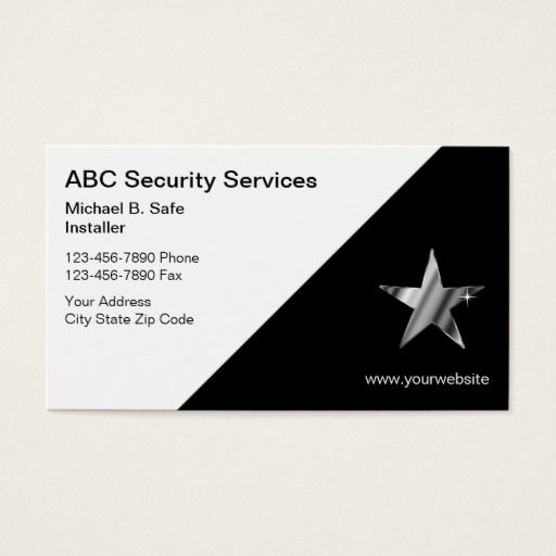 Video Security Business Cards Security Guard Business Cards