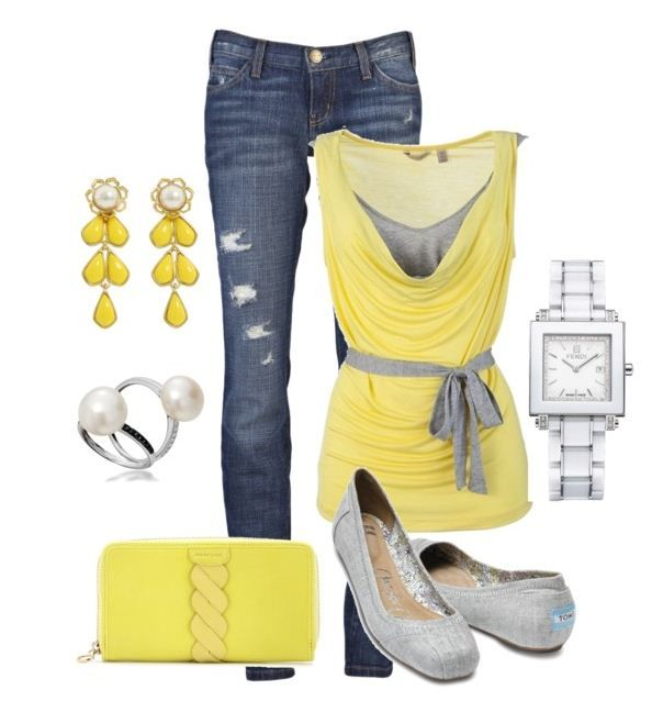 Yellow and Grey with Denim  -- #Fall2012
