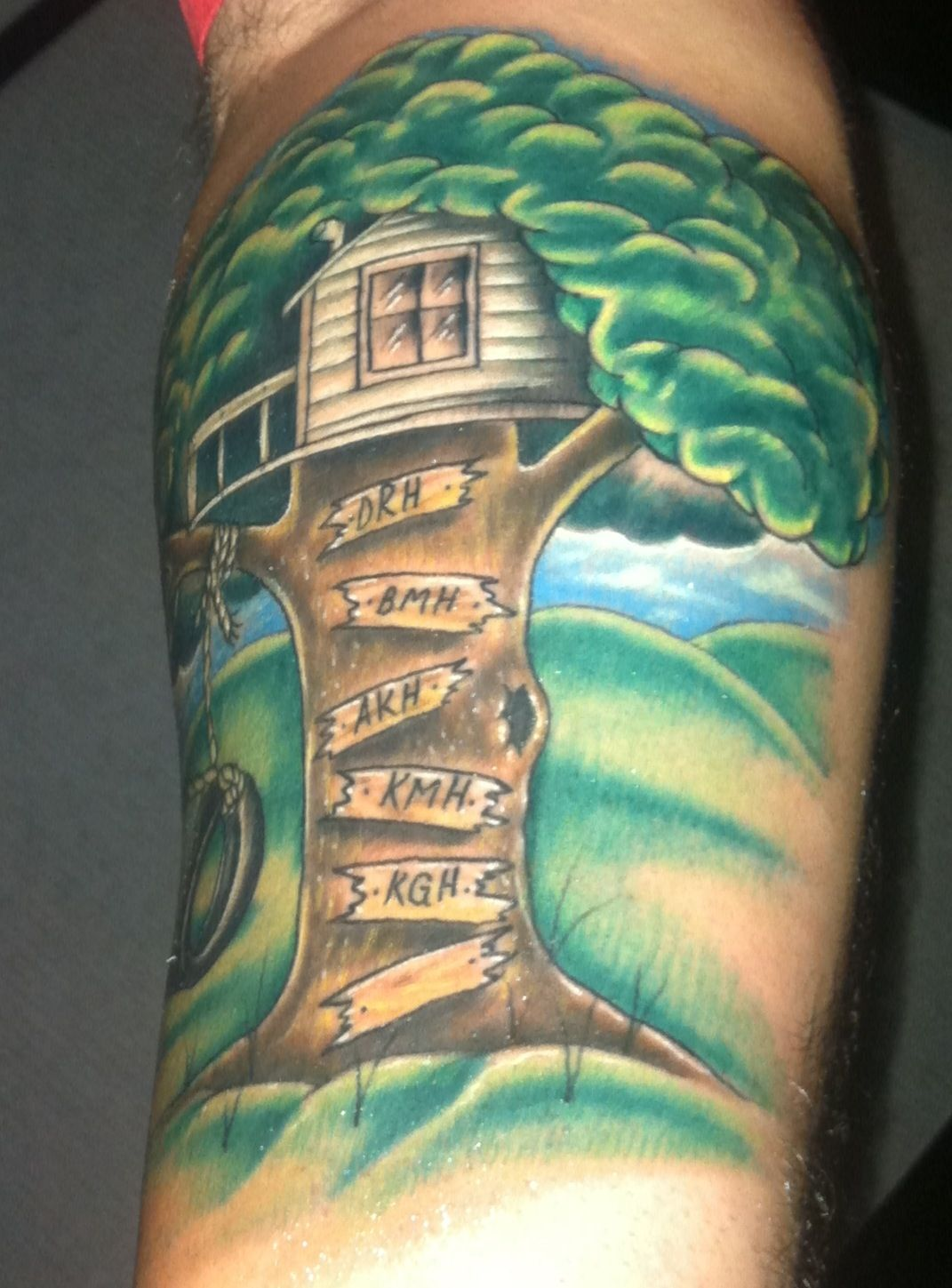 My Husbands Newest Tattoo With Kids Names Tattoos For Guys