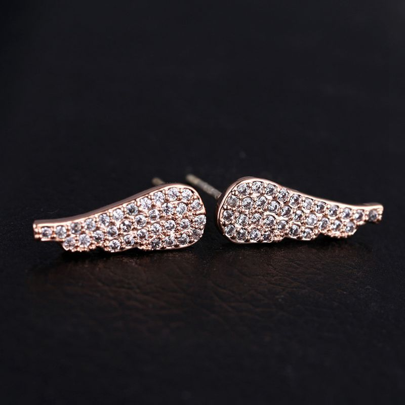 Sterling Silver Angel Wing Stud Earrings Price 10 97 Free Shipping