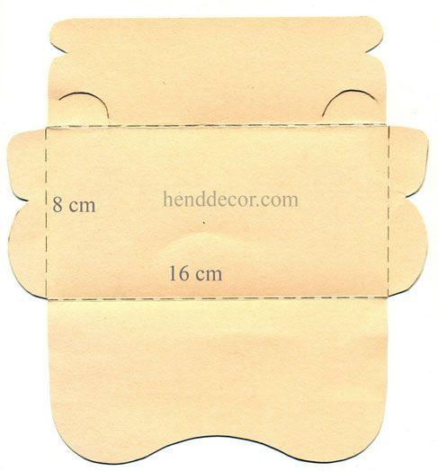 открытка конверт шаблон с размерами