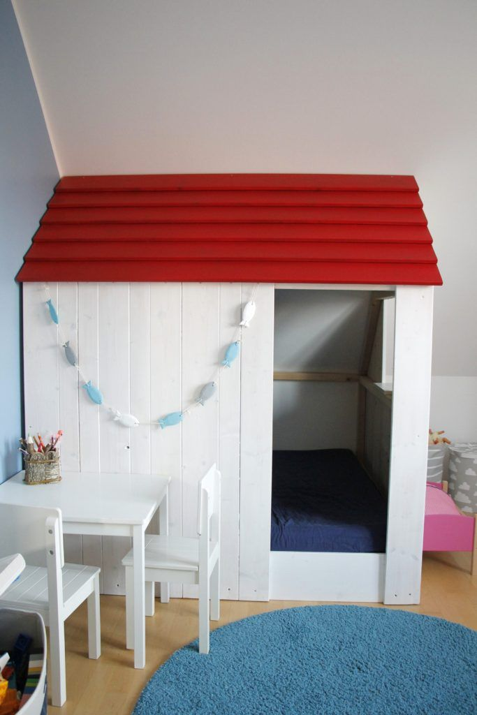 KinderzimmerSpielhaus selber bauen HolzProjekt für