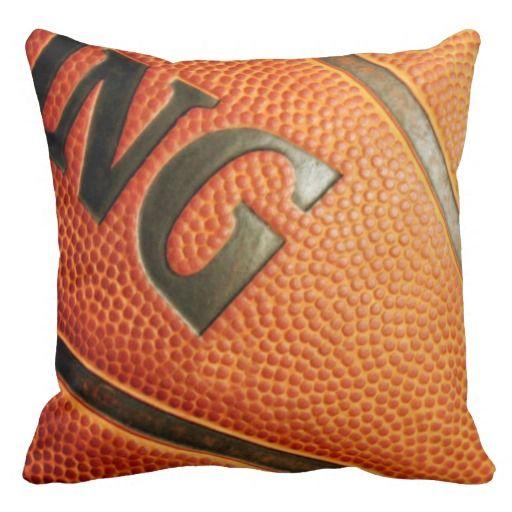 Unique Basketball Print Throw Pillow