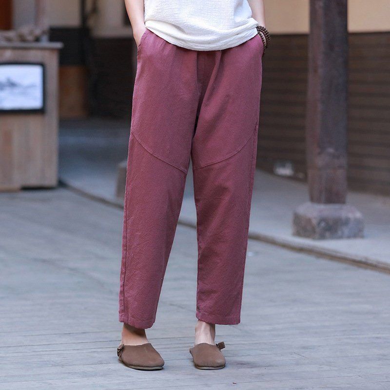 faba703cd4f091 2019 NEW! Women Linen and Cotton Casual Straight Cropped Pants –  Water-washed Linen and Cotton Pants by OsonianClothing on Etsy
