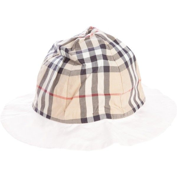 f44b0986eca Pre-owned Burberry Girls  House Check Bucket Hat ( 65) ❤ liked on Polyvore  featuring brown