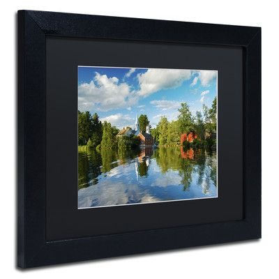 Trademark Art 'Old Town Reflection' by Michael Blanchette Framed Photographic Print