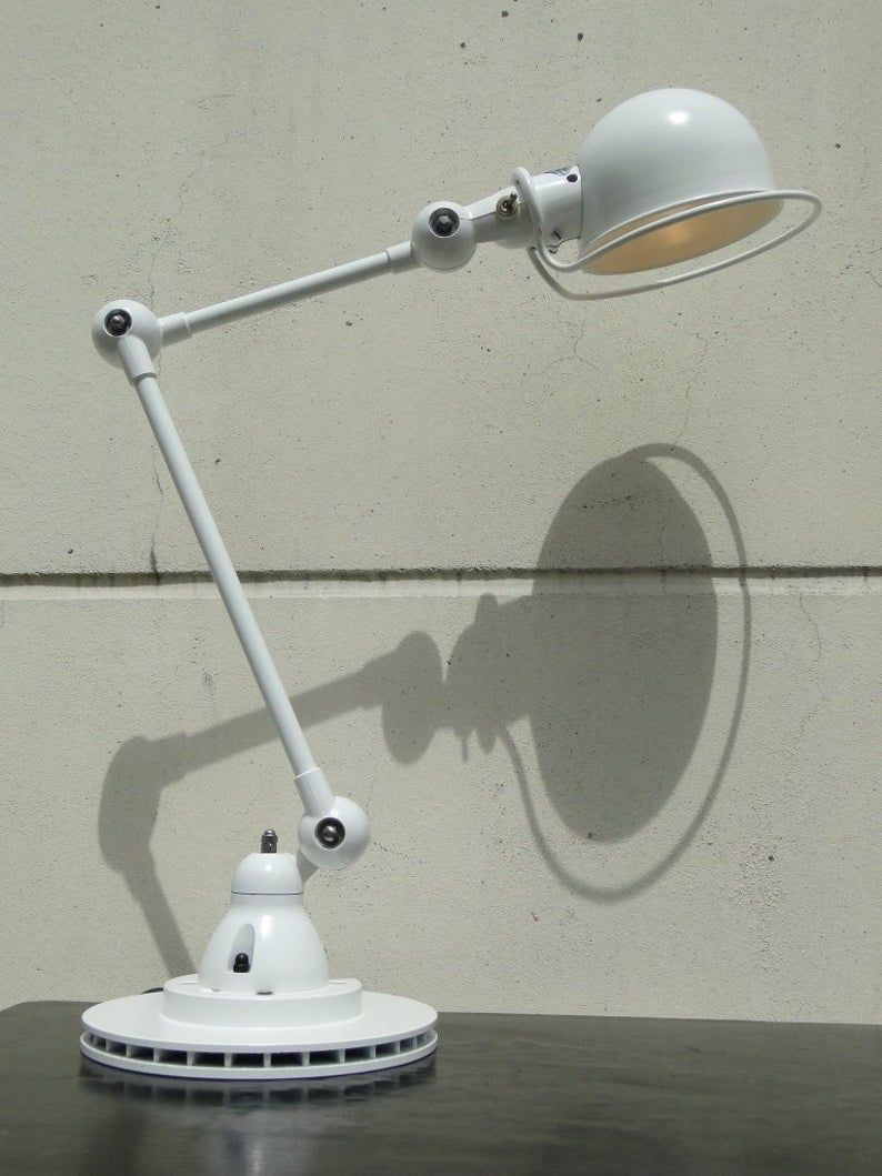 JIELDE FRENCH INDUSTRIAL 2 arms table desk reading lamp #frenchindustrial