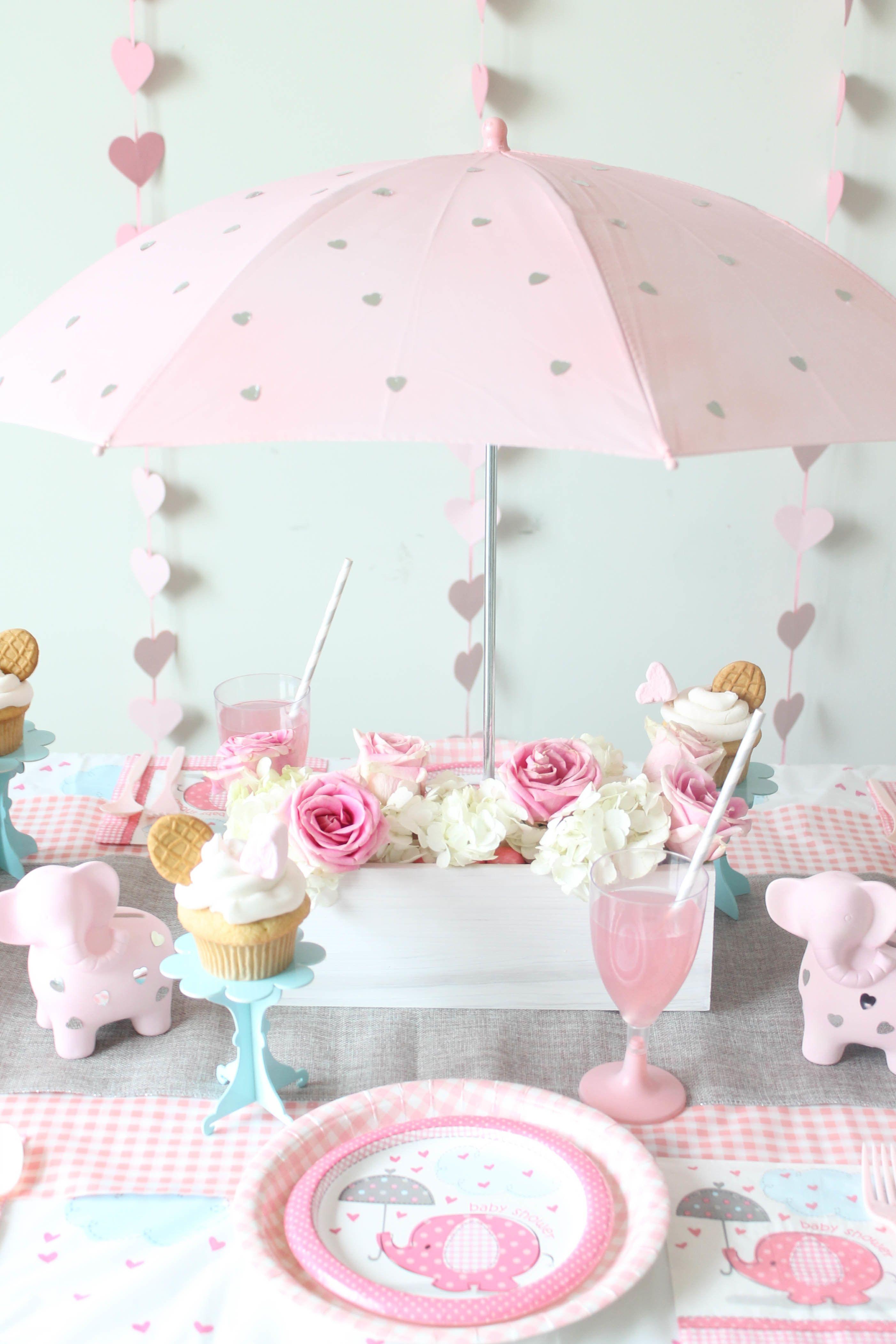 Diy Umbrella Centerpiece Mary Willis Baby Shower Decorations