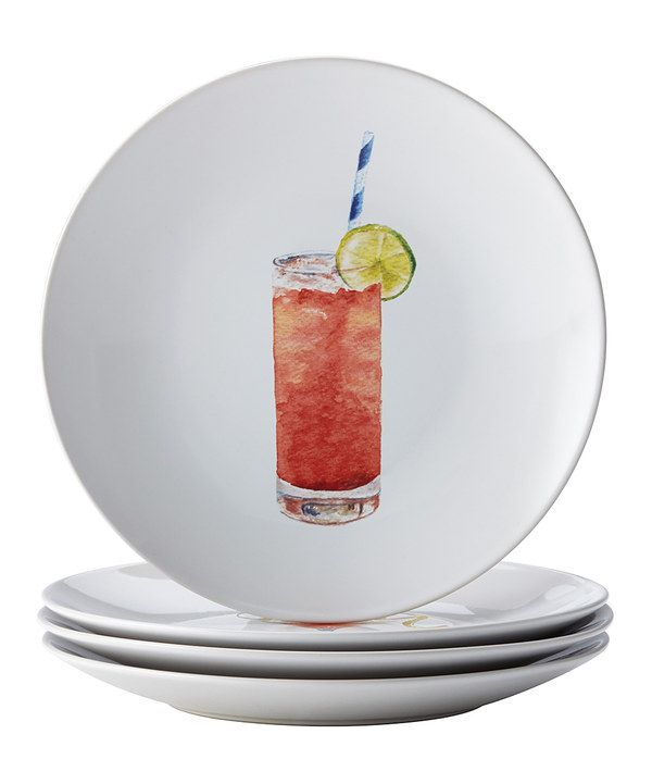 Look at this Rachael Ray Cocktail Salad Plate - Set of Four on #zulily today!