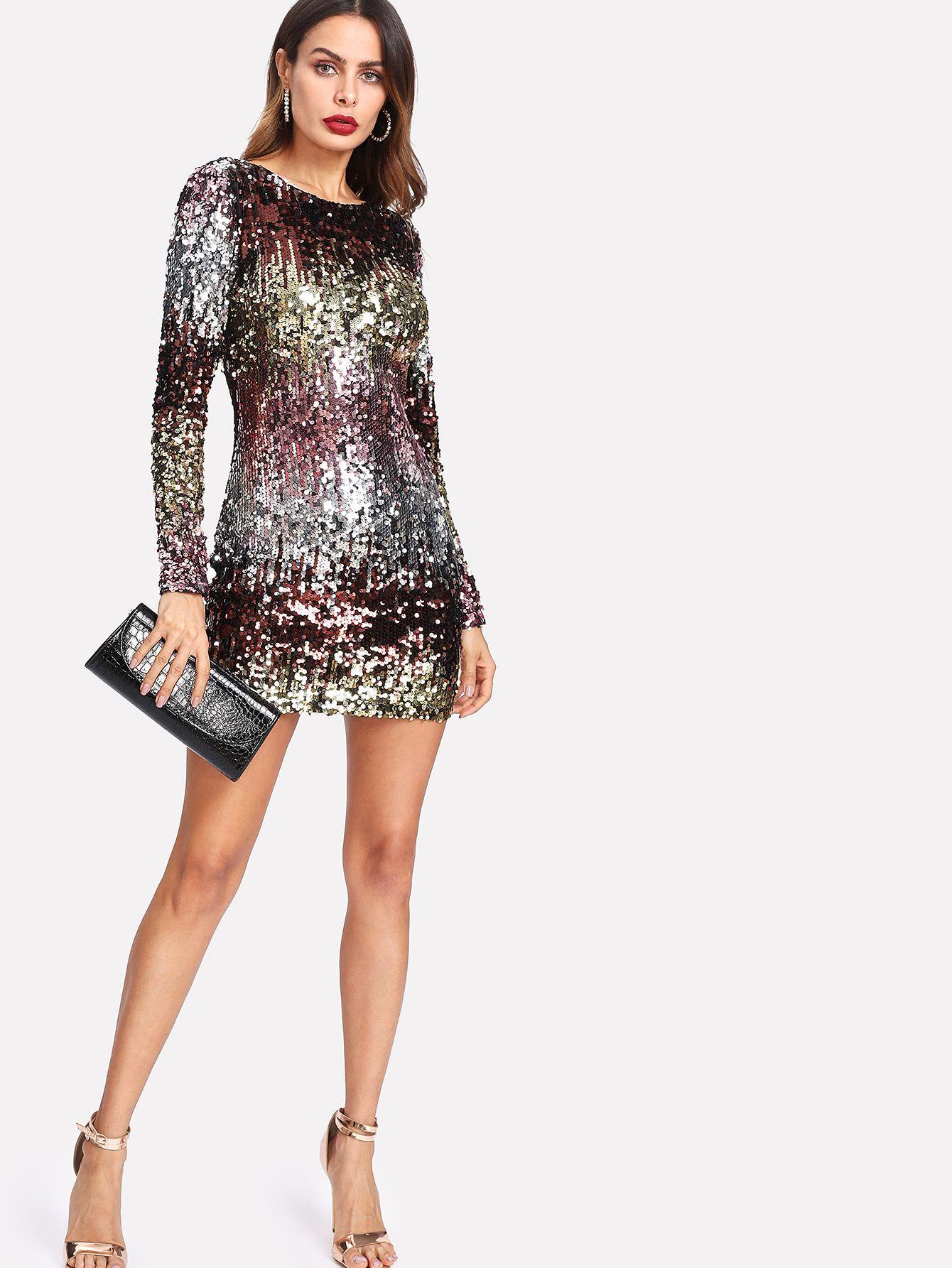 3c75747027 Shop Iridescent Sequin Dress online. SheIn offers Iridescent Sequin Dress &  more to fit your fashionable needs.