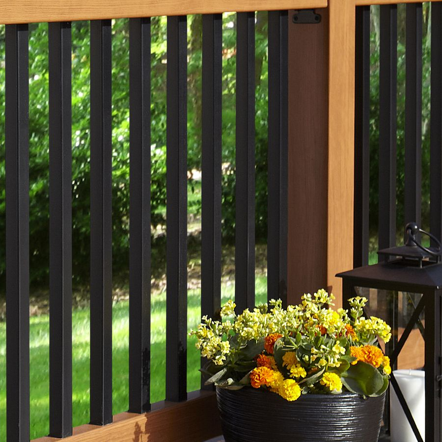 Shop Fiberon 5-Pack Black Composite Deck Baluster (Common: 33.5-in; Actual: 33.5-in) at Lowes.com