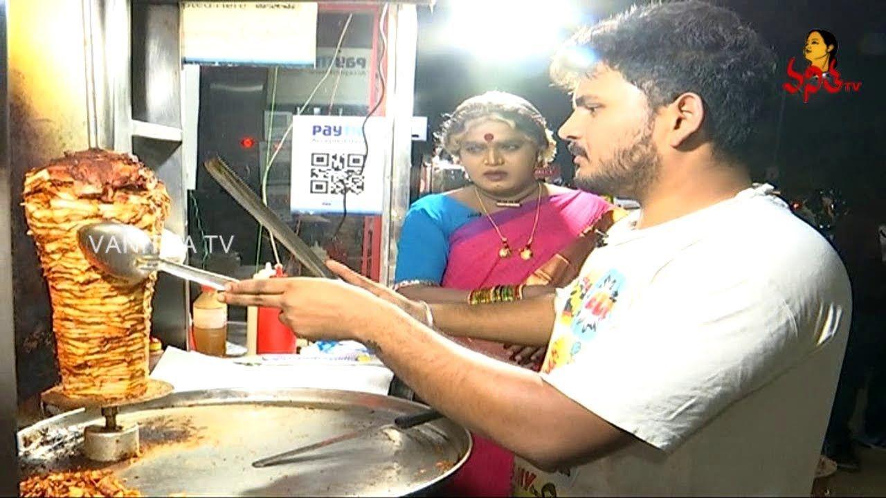 Chicken Shawarma Roll Recipe | Komarakka Recipes : Indian Street Food | Vanitha TV