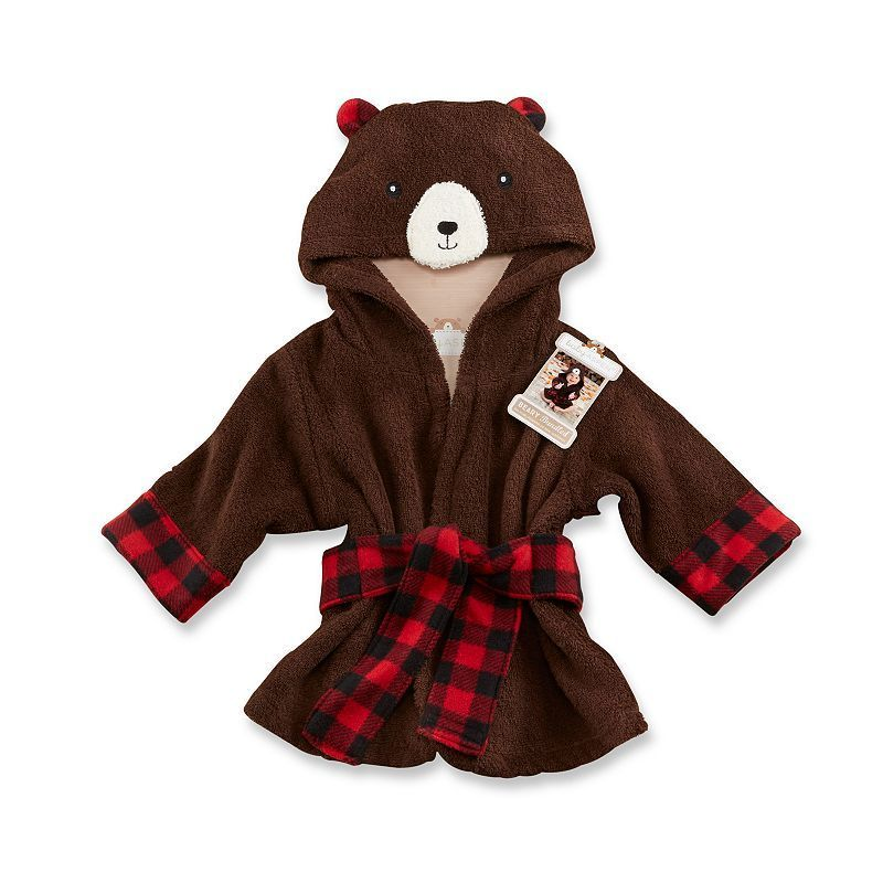 Baby Aspen s Beary Bundled Hooded Brown and Red Robe is perfect for  wrapping your baby up like a soft and fuzzy cub!The Baby Aspen Beary  Bundled Hooded ... bba92246f