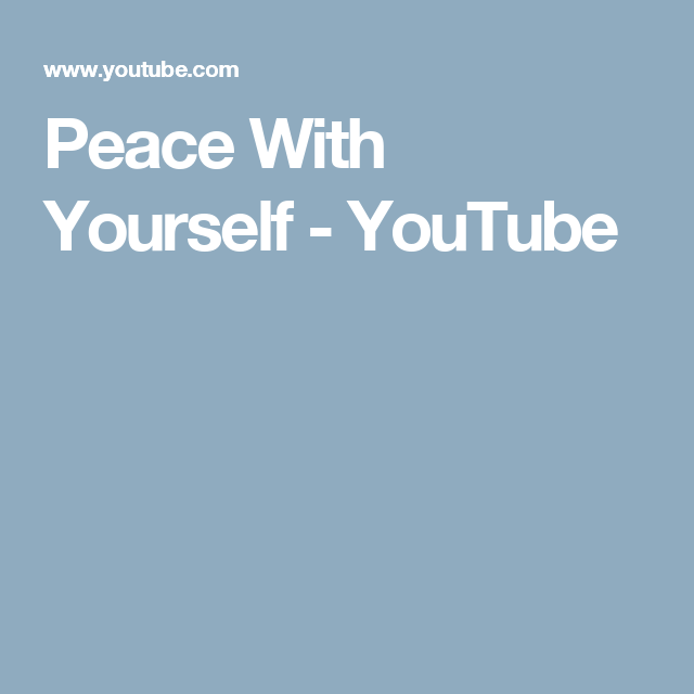 Peace With Yourself Youtube Joel Osteen Joel Osteen Peace